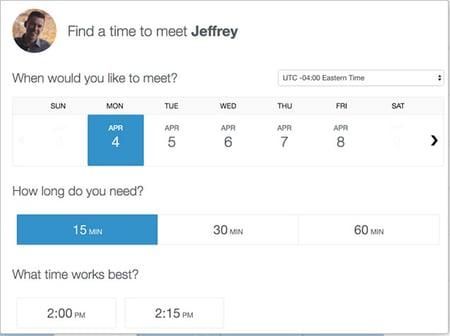 Book a meeting through HubSpot