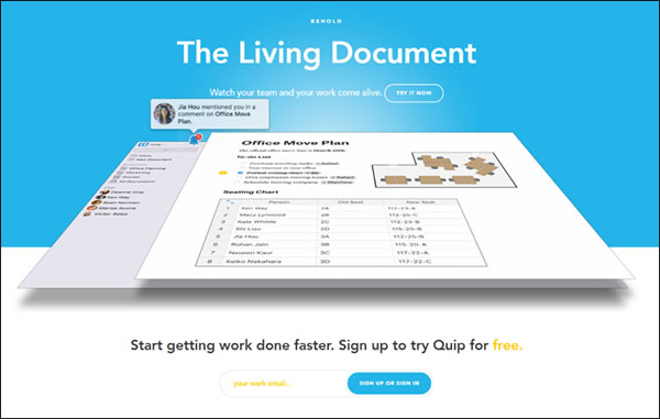 Quip Team Collaboration Tool