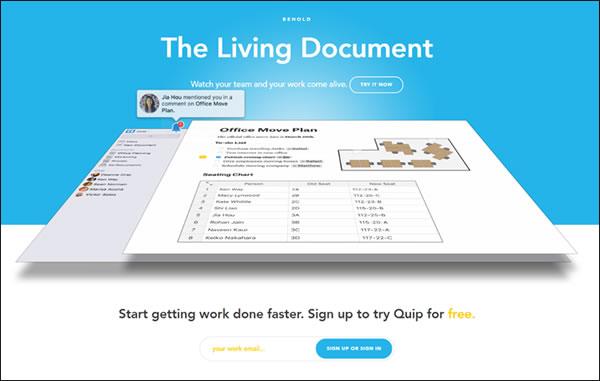 Quip Team Collaboration Tool