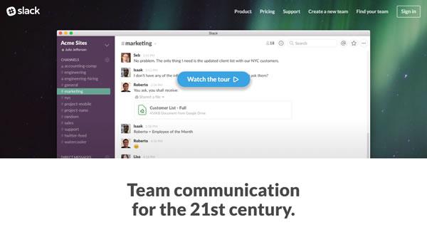 Slack Team Communication Tool
