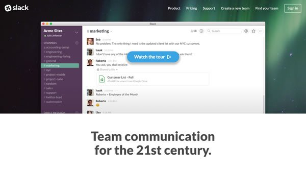 Slack Team Communication Tool
