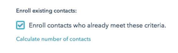 Enroll existing contacts