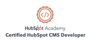 Certified HubSpot CMS Developer-Badge