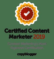 Copyblogger | Certified Content Marketer Certification