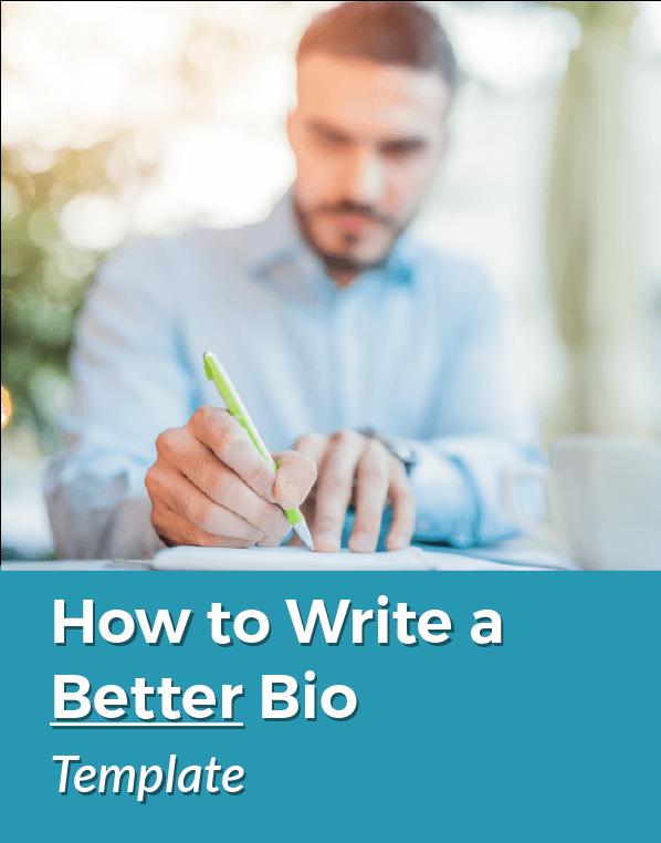 Write a Better Bio Template